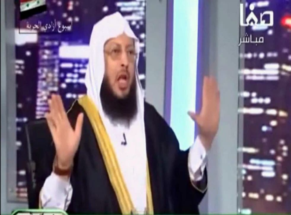 Sheikh Mohammad al-Zughbi (below) preaches on YouTube