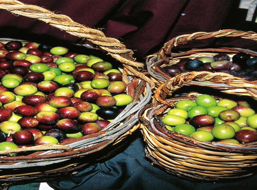 Trulli scrumptious: baskets of olives