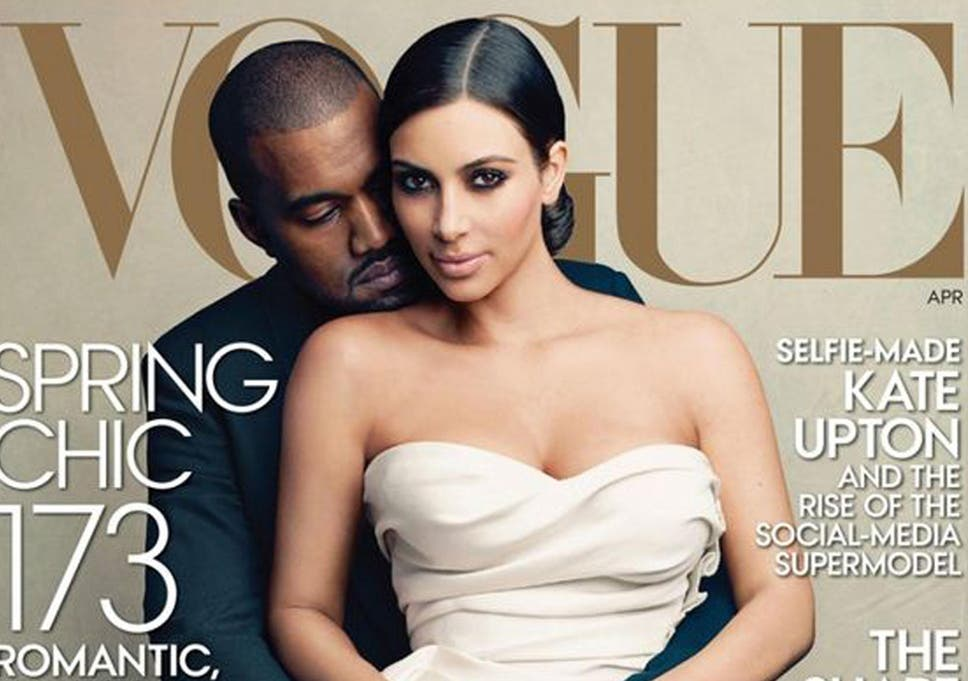 Kanye West And Kim Kardashian Score Wedding Themed Debut Vogue Cover