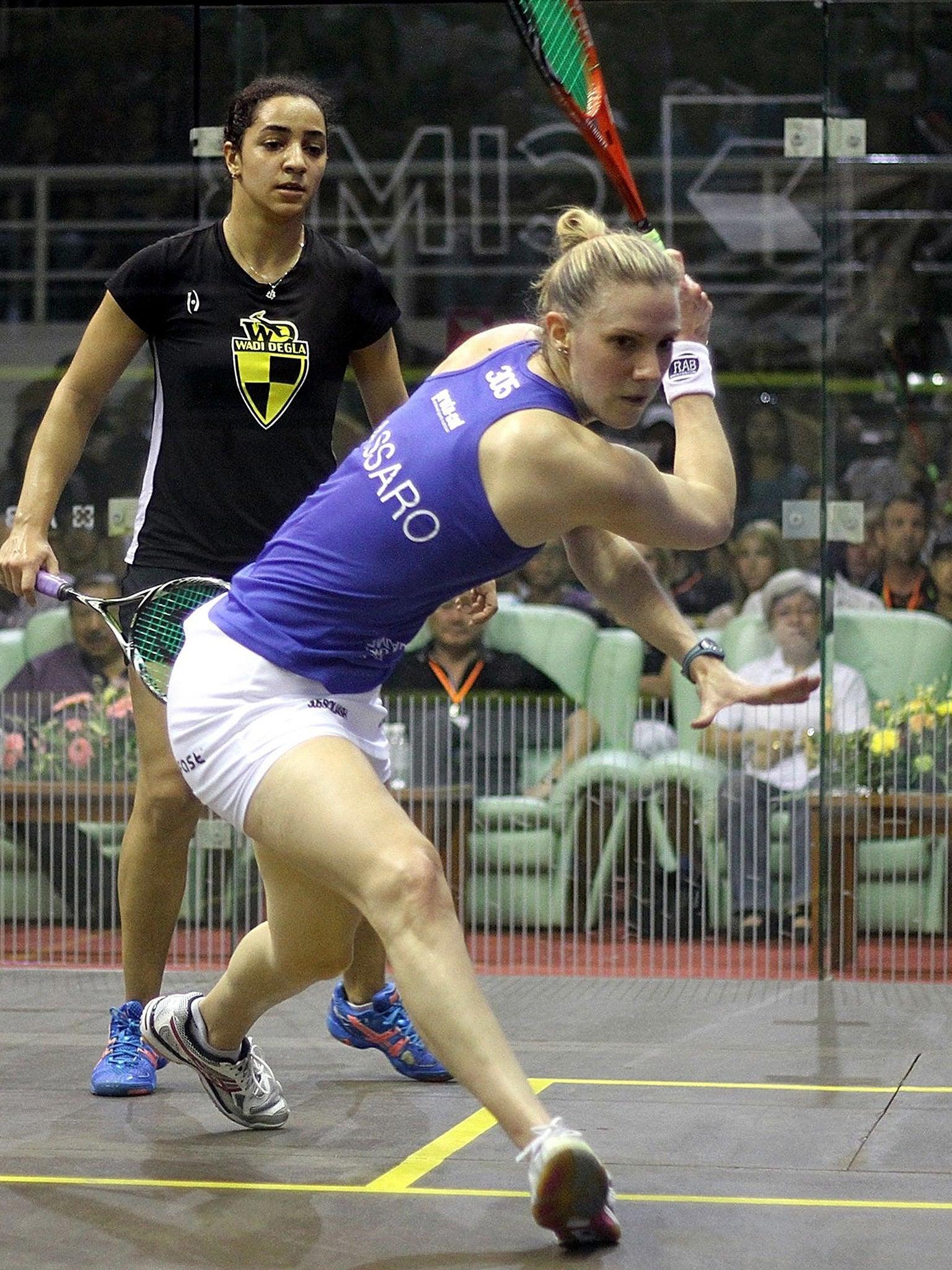 England's Laura Massaro reaches squash world championships