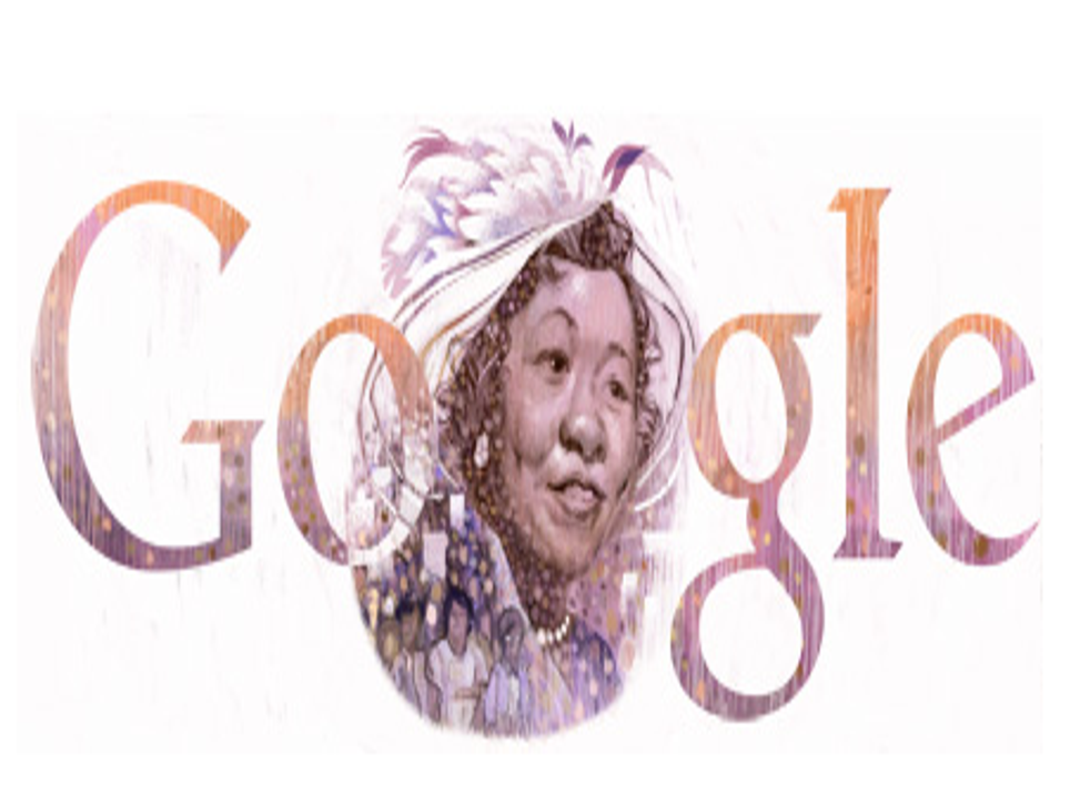 The US Google Doodle celebrating Dorothy Height's 102nd birthday on 24 March, 2014.