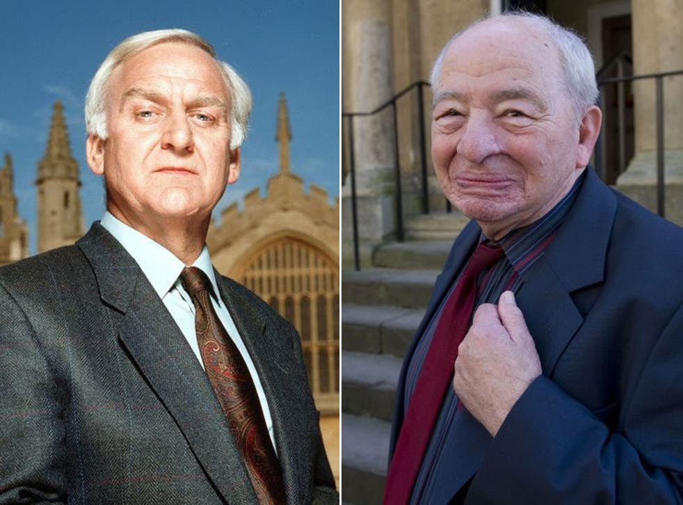 Author Colin Dexter (right) has ensured no other actor can play the role made popular by John Thaw (left) once 'Endeavour' ends