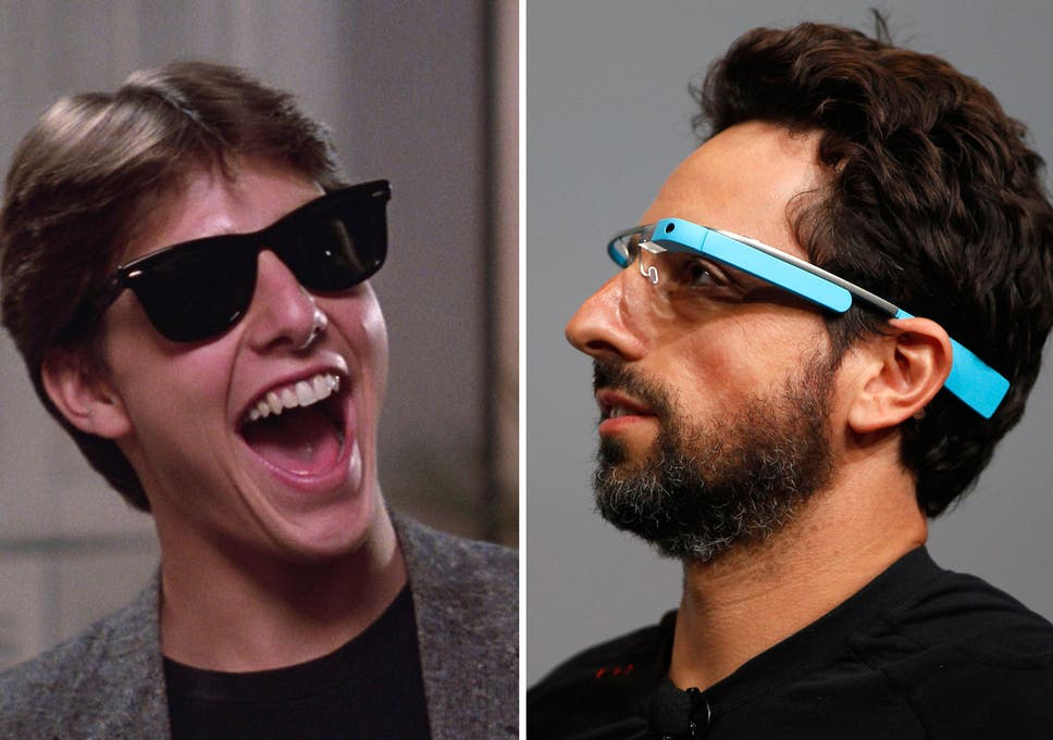 d7d4d43c0108 Dedicated Wayfarer Tom Cruise shows Google co-founder Sergey Brin how to  get excited about