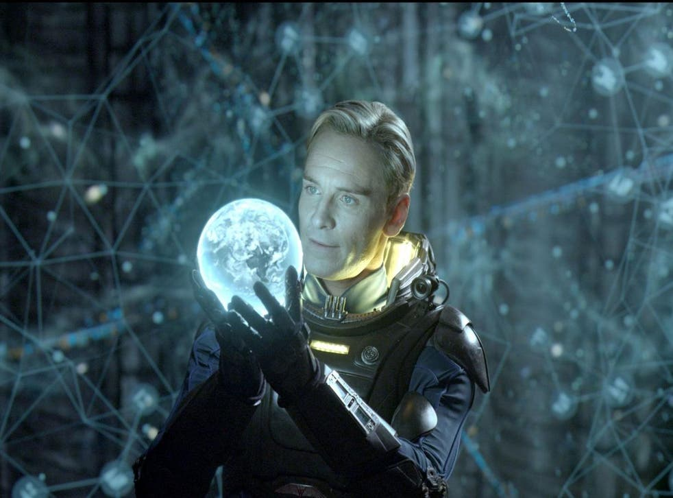 Michael Fassbender stars in Prometheus