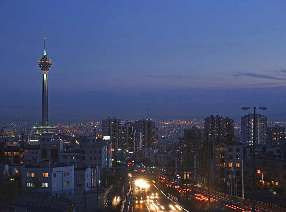 Tehran at night. Despite the ban on alcohol, drinking in Iran is widespread