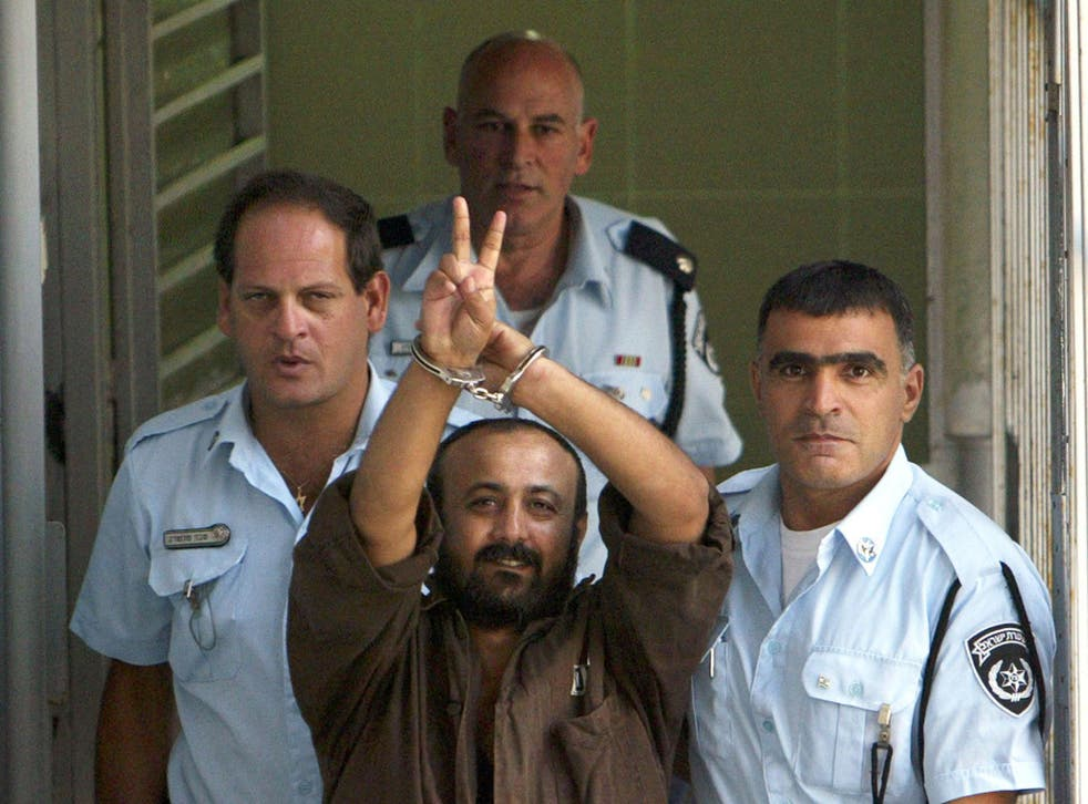 The Palestinians are seeking the release of Marwan Barghouti, convicted of murder and jailed in 2004