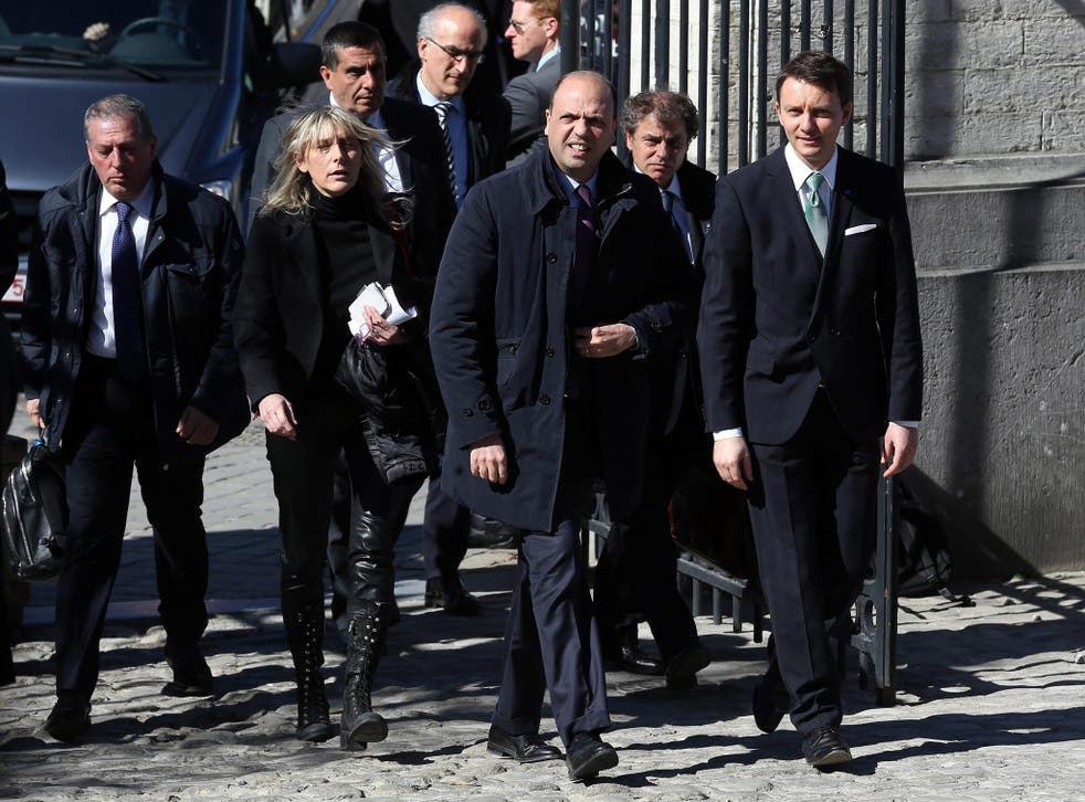 Crimes bosses allegedly hatched a plan in 2009 to kill Angelino Alfano (centre)