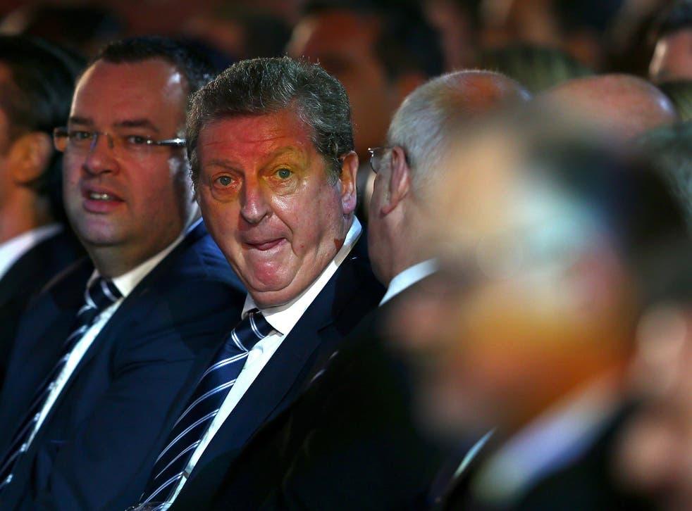 Alex Horne (left), the FA's general secretary, with England manager Roy Hodgson