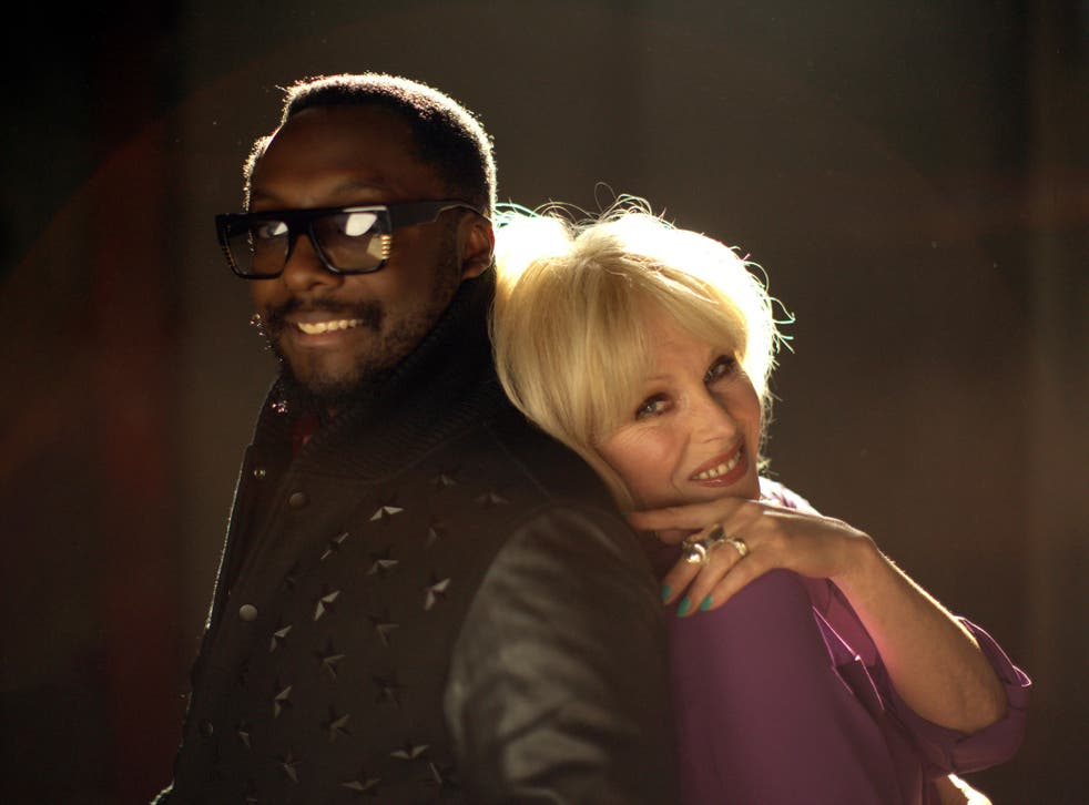 Joanna Lumley and will.i.am at the I.Am.Angel Foundation headquarters in Los Angeles