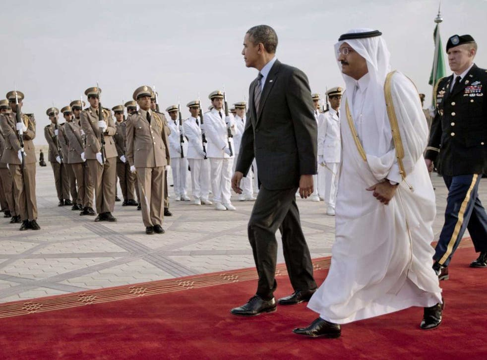 Special guest: Barack Obama is welcomed in Riyadh on Friday