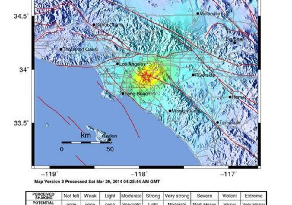 California earthquakes 2014: 100 aftershocks rattle US state ... on snowfall map of the us, fire map of the us, geological map of the us, hawaii map of the us, drought map of the us, weather map of the us, airport map of the us, new york city map of the us, earthquake fault lines america map, radiation map of the us, seismic map of the us, earthquake faults in us, environment map of the us, landform map of the us, earthquake zone map, lighthouses of the us, tornado map of the us, earthquake threat map, sink hole map of the us, plate tectonics map of the us,