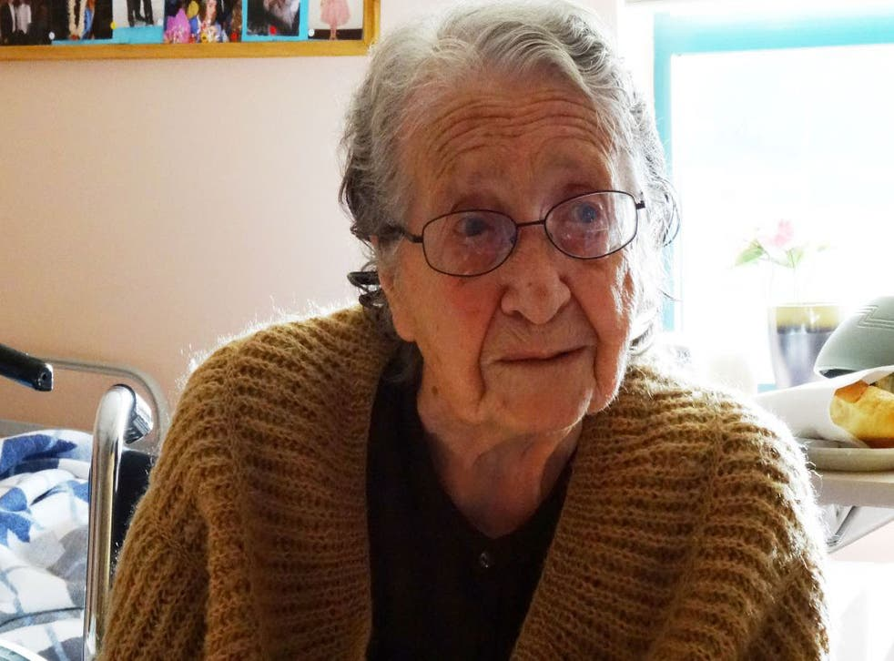 Yevnigue Salibian, aged 100, escaped deportation, but she suffered a near-death fall when her family fled to Syria