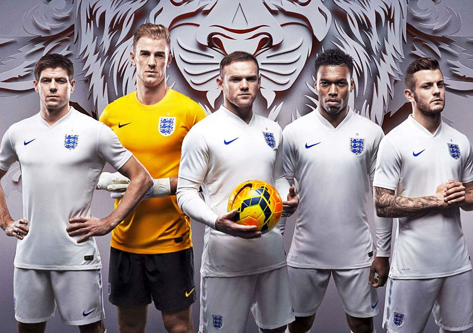 e49df70bd England unveil World Cup kit  £90 strip  the armour of English ...