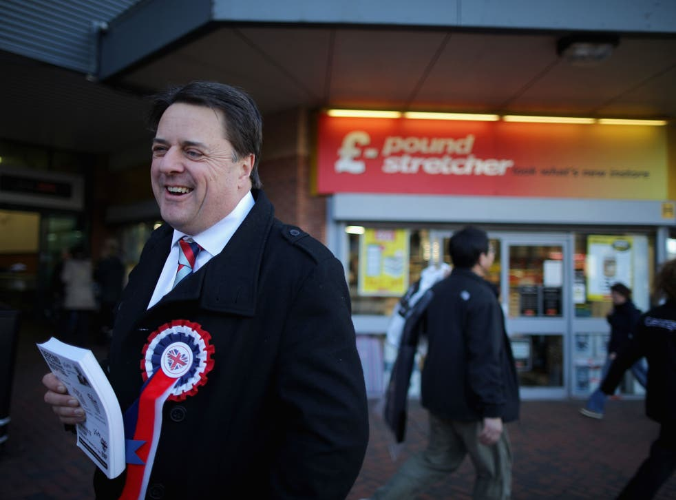 """Nick Griffin tweeted yesterday: """"For the avoidance of doubt, our BNP food banks are for indigenous Brits only. 'Minorities' all have their own (taxpayer-funded) charities."""""""