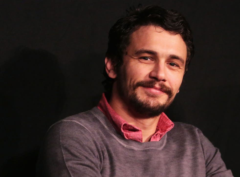 James Franco joked about the messages on Twitter