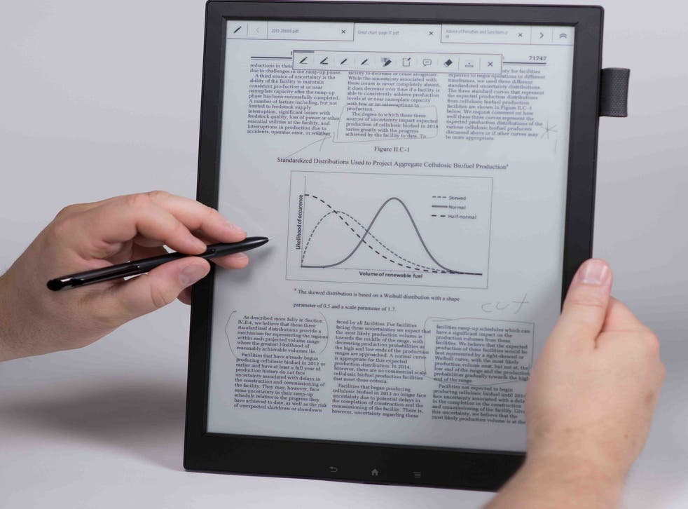 New Digital Paper tablet has a 13.3-inch e-ink display and is just 7mm thick