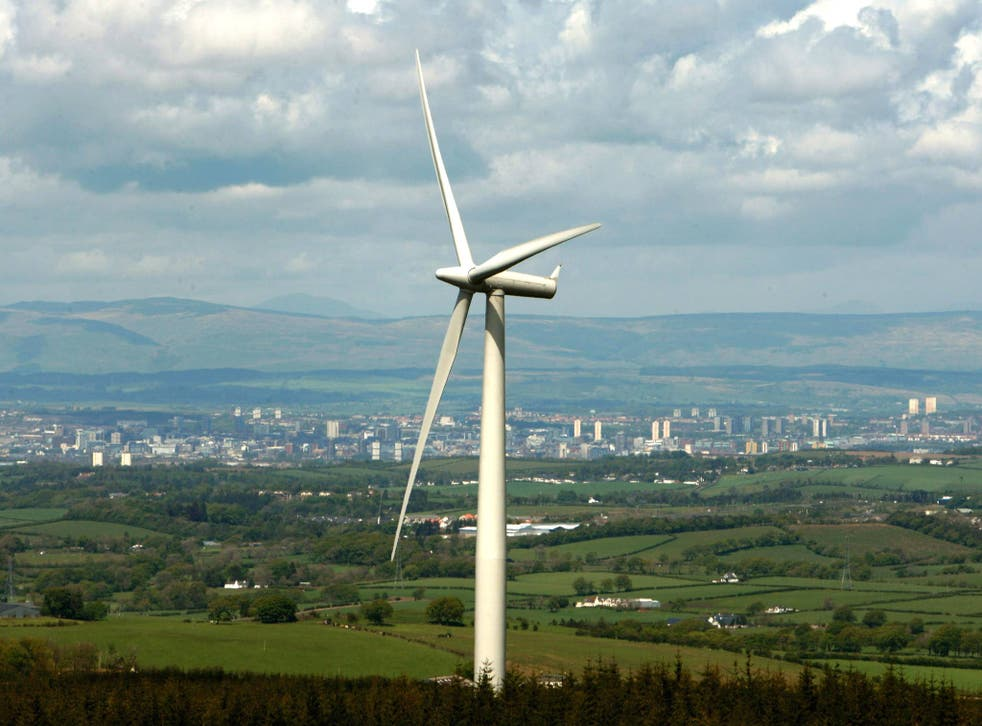 There are 4,417 turbines operating in the UK