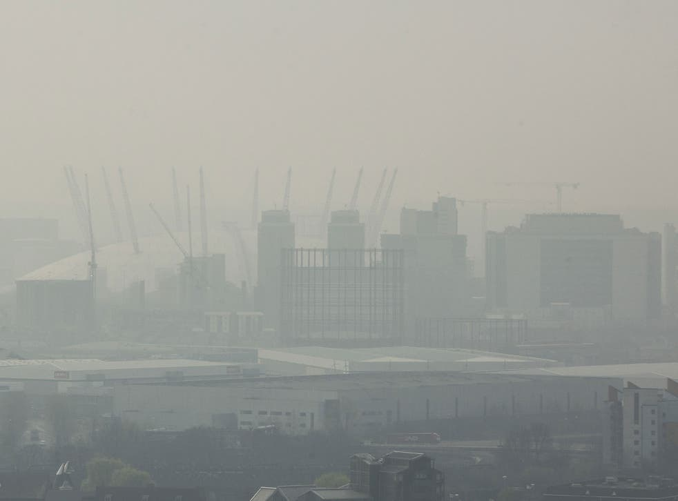 A combination of Saharan dust and toxic smog