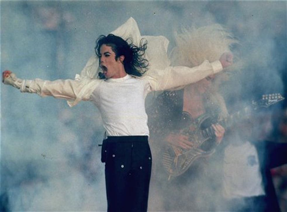 The pop icon performs during the halftime show at the Super Bowl in 1993