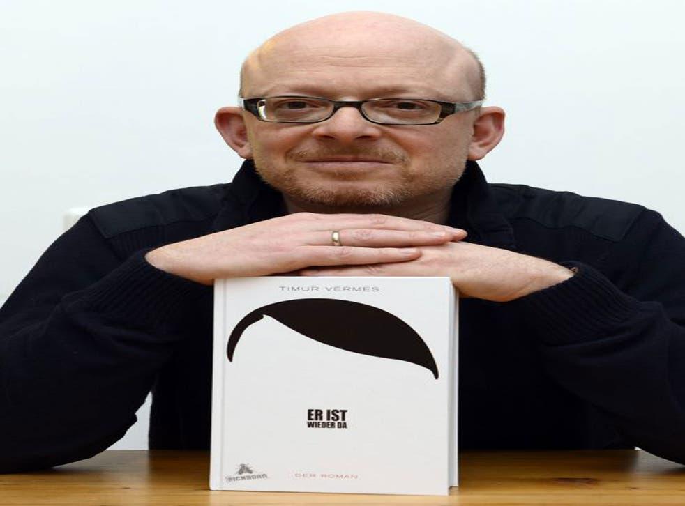 Author Timur Vermes with his new novel