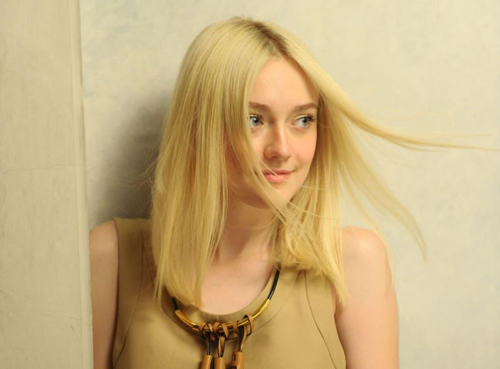 Studious: Dakota Fanning, who still attends classes in New York
