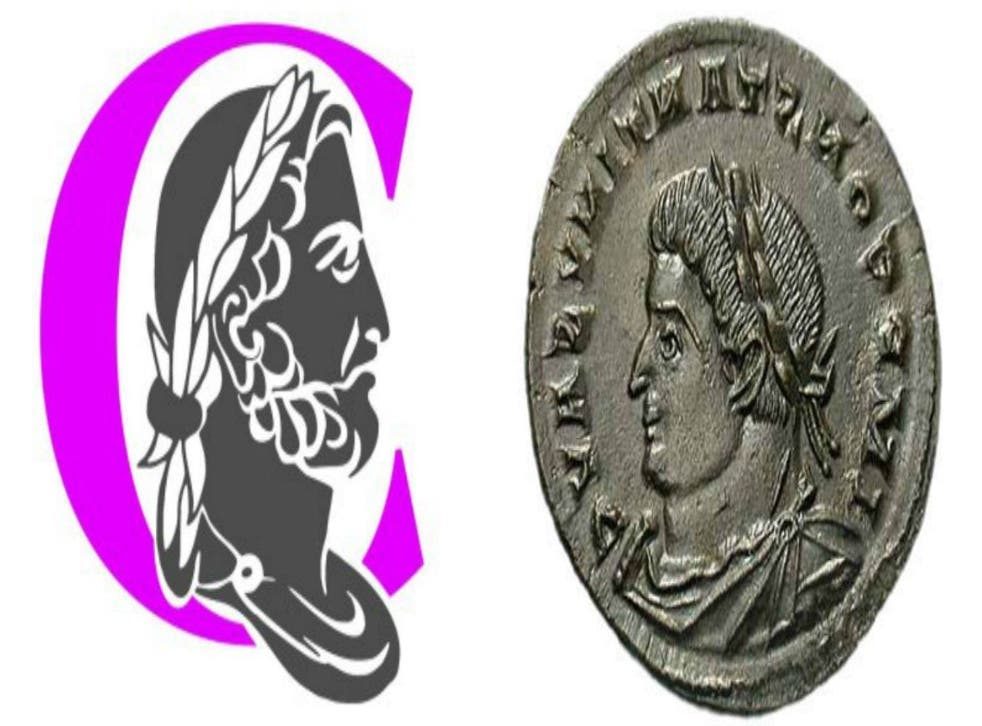 To beard or not to beard: Emperor Hadrian and (right) Emperor Constantine