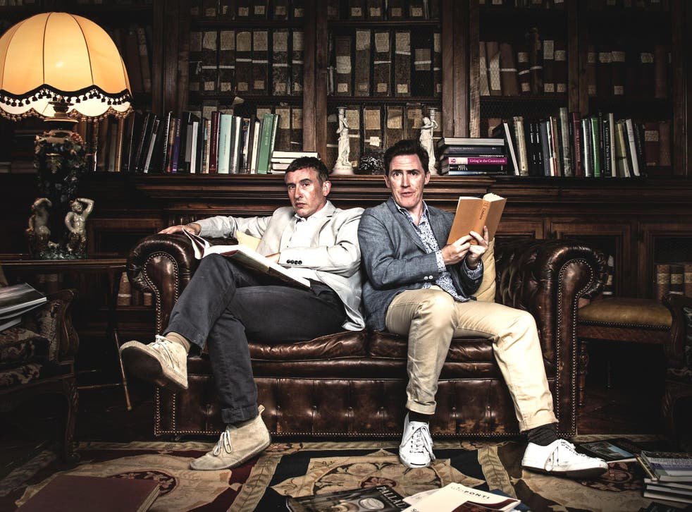 Steve Coogan (left) and Rob Brydon star in 'The Trip'