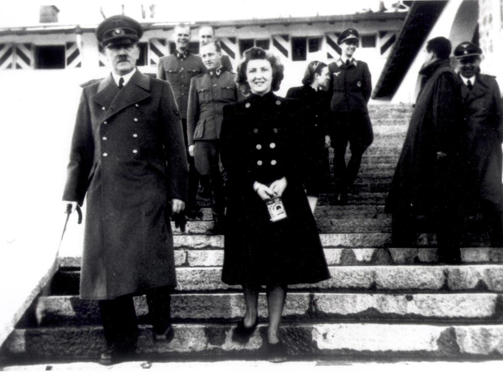 Adolf Hitler with Eva Braun, whose relationship with him was a state secret