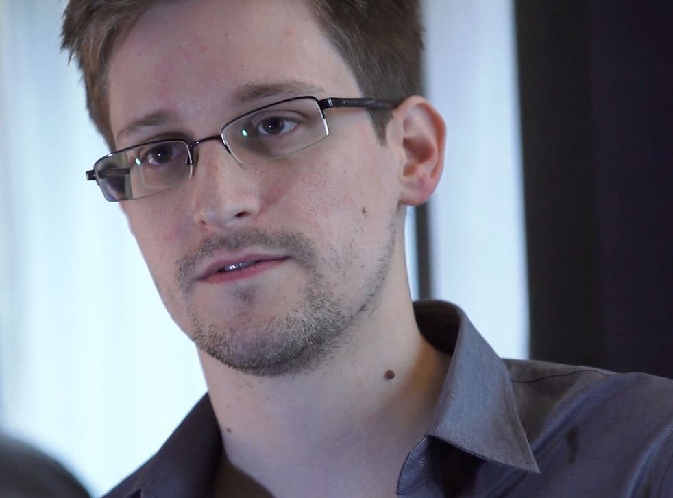 Edward Snowden speaks during an interview in Hong Kong.