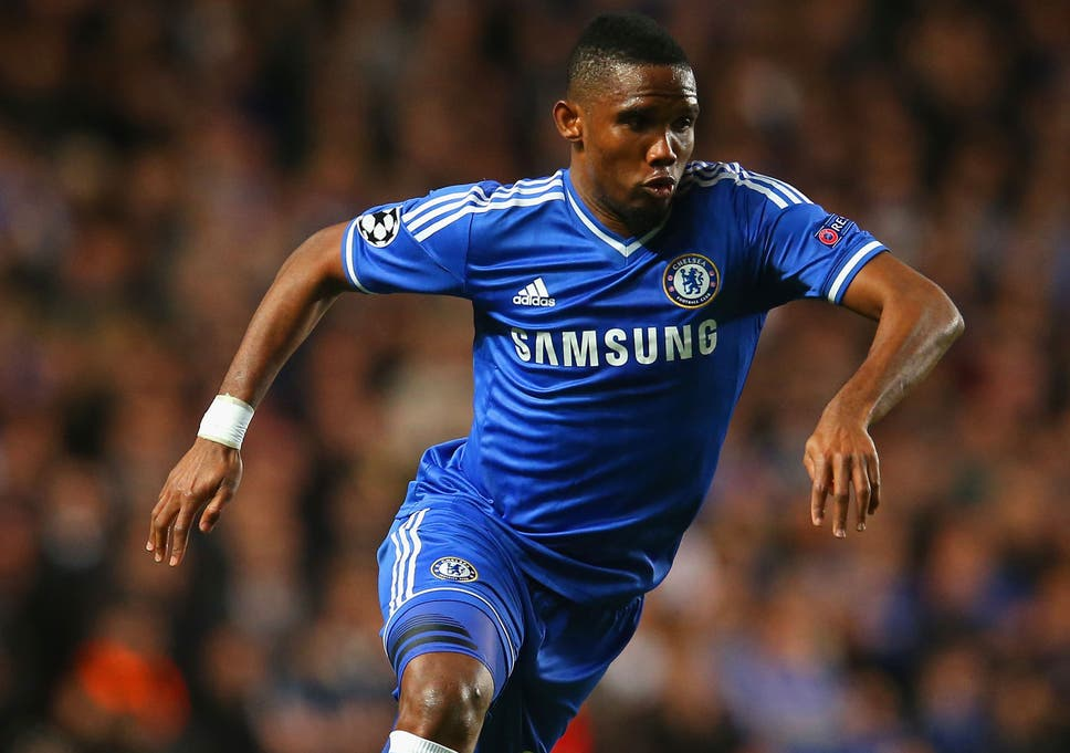 fc482e2e9 Mourinho was caught off-guard when a camera recorded him questioning  striker s age and Eto o has blasted the Chelsea manager having played his  last game for ...