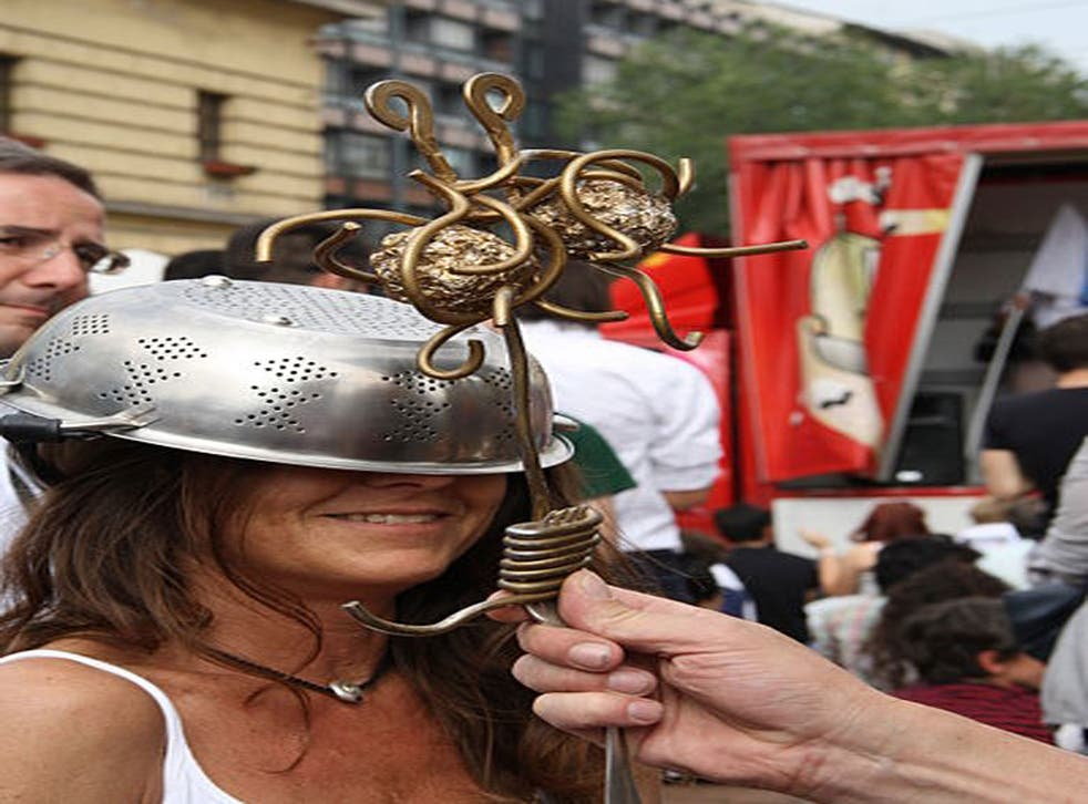 Pastafarians wear colanders on their head as a symbol of their religious beliefs