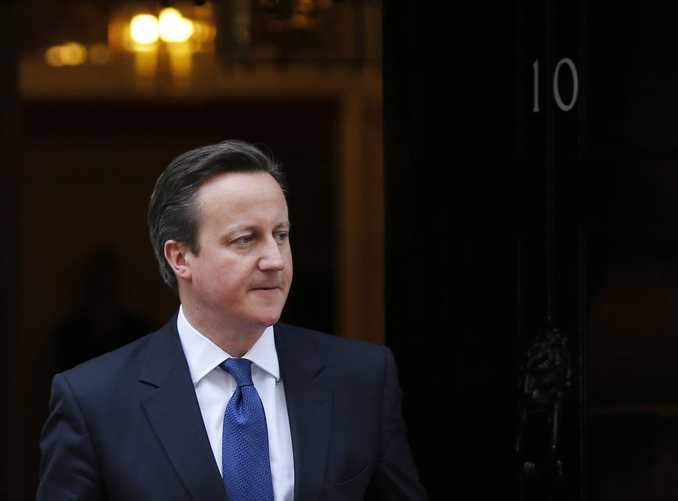 David Cameron, pictured outside Downing Street on the day Maria Miller resigned as Culture Secretary, later listened to a rendition of 'Ave Maria' at his Easter reception