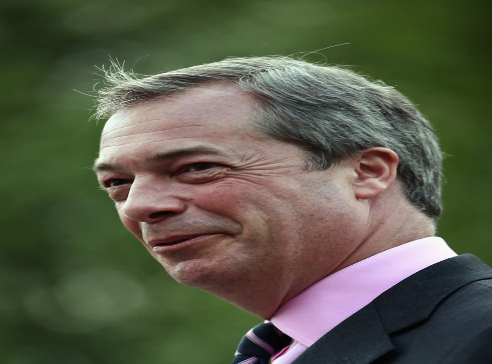 Nigel Farage's personal rating has gone from 31 to 40 per cent