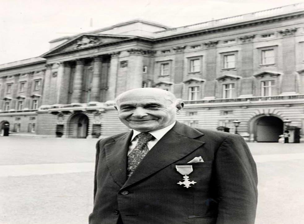 I spy: Juan Pujol Garcia pictured outside Buckingham Palace