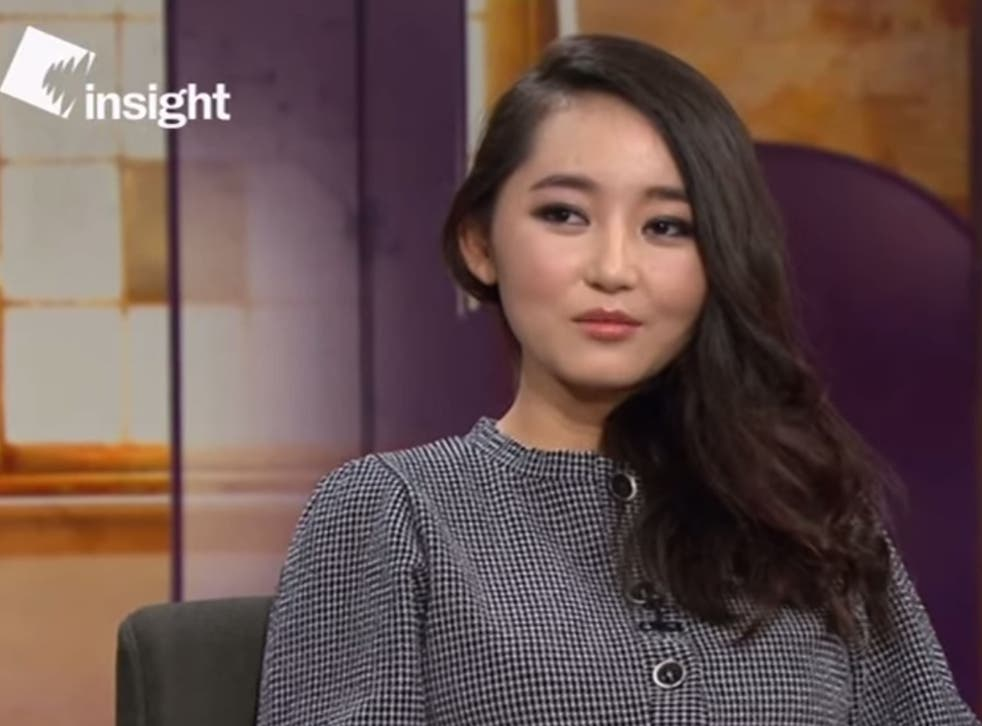 Yeonmi Park, 20, told SBS she had been brought up to believe Kim Jong-il was a 'god' who could read her mind
