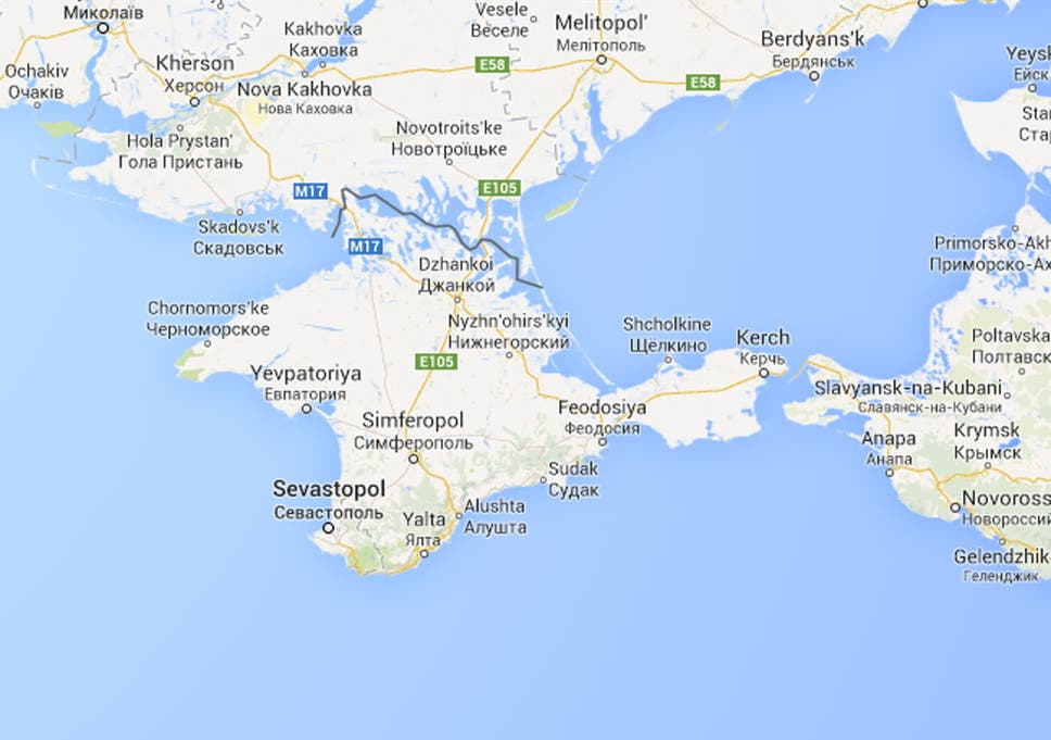 Ukraine Crisis Crimea Made Part Of Russia On Google Maps But Only