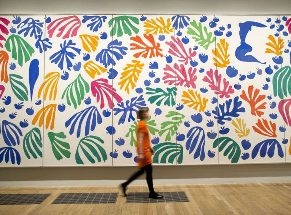 """""""The Parakeet and the Mermaid 1952"""" by Henri Matisse at The Cut-Outs exhibition at the Tate Modern"""