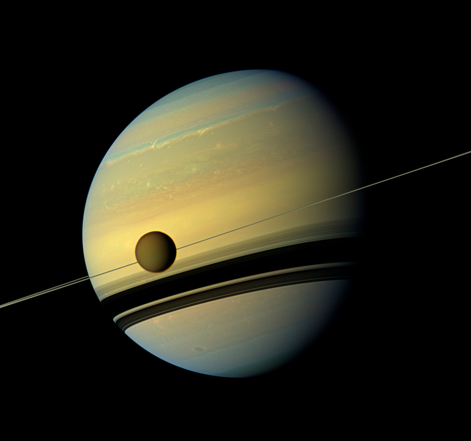 saturns atmosph cassini image - HD 1642×1536