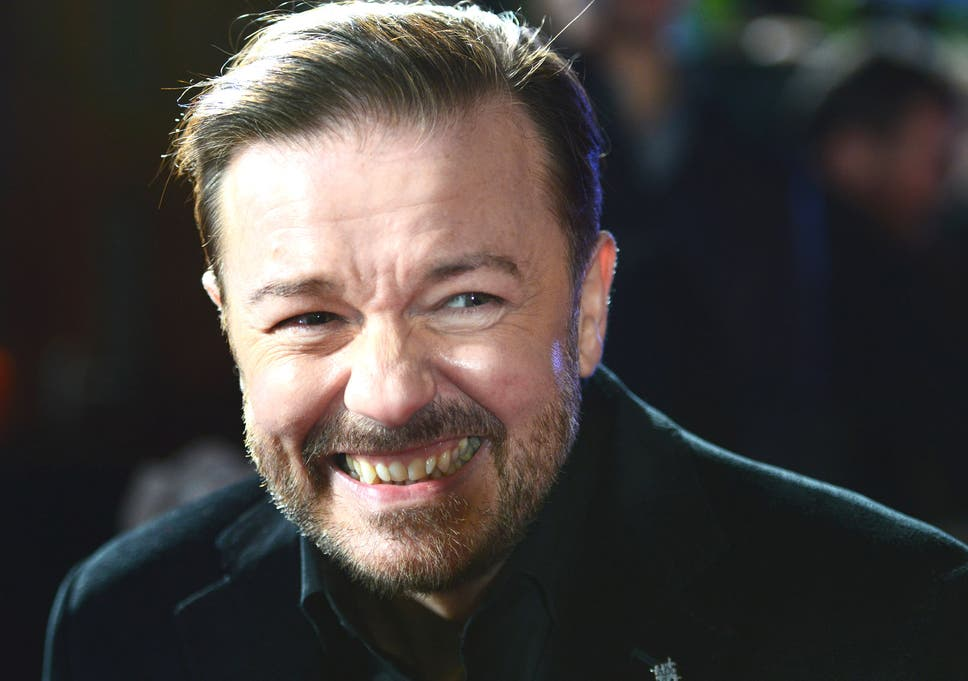8a27ef2958 Ricky Gervais at a screening of 'Muppets Most Wanted' in London last month