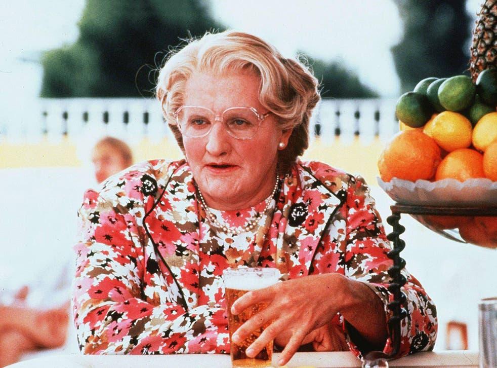 Robin Williams won a Golden Globe for Mrs Doubtfire