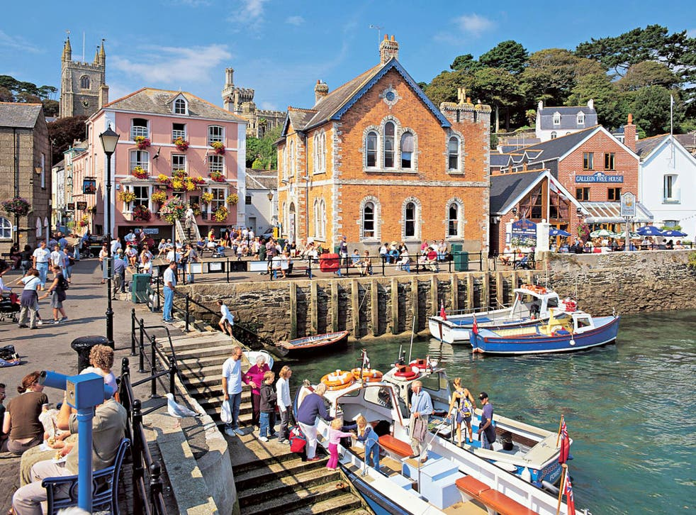Rum coves: the harbour quay at Fowey