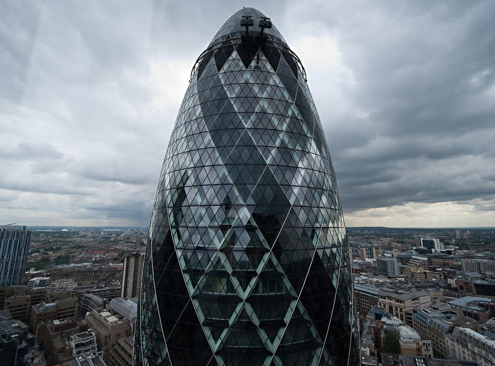 The Swiss Re tower or 'Gherkin' was at one time the UK's most expensive office when German bank IVG and private equity firm Evans Randall bought it