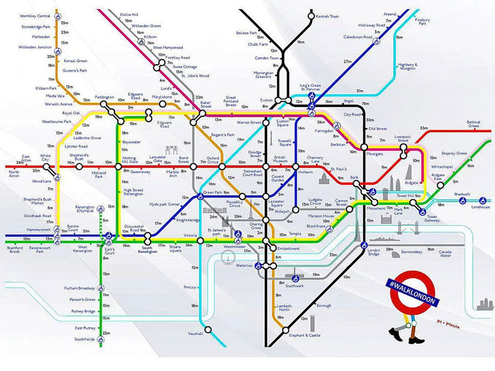 Tube Strike Walking Map Avoid Underground Chaos With This Useful - Map out walking distance