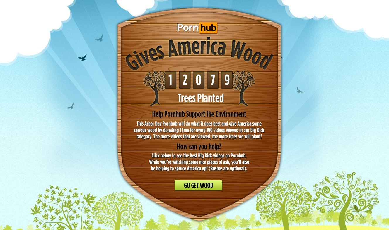 PornHub Gives America Wood