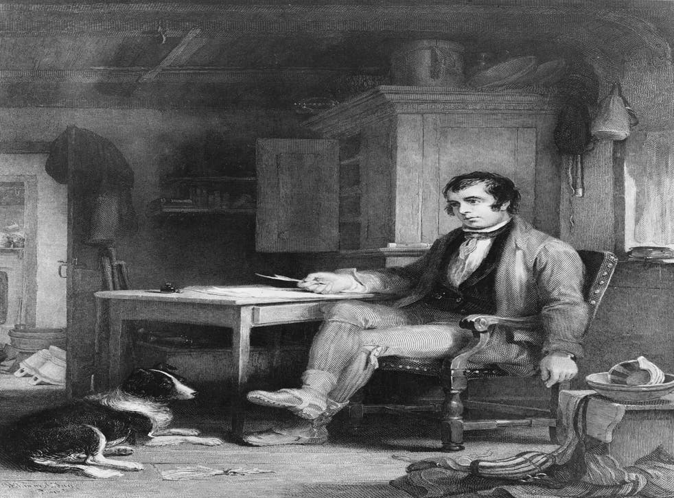 The pleasures of dialect: Robert Burns in his cottage composing 'The Cotter's Saturday Night'