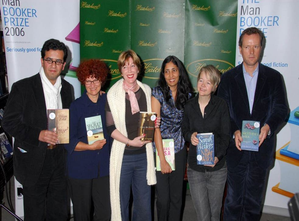 Parallels: Hisham Matar, Kate Grenville, MJ Hyland, Kiran Desai, Sarah Waters and Edward St Aubyn at the Man Booker Prize shortlist announcement in 2006