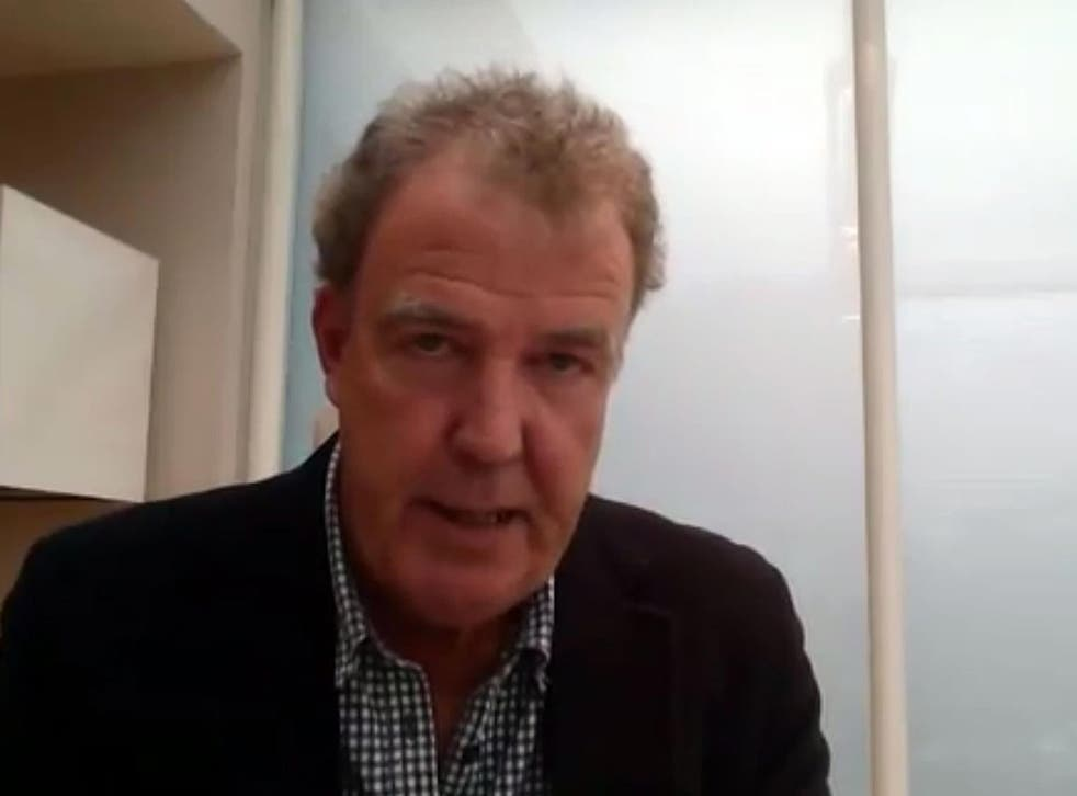 A screengrab from Jeremy Clarkson's video apology