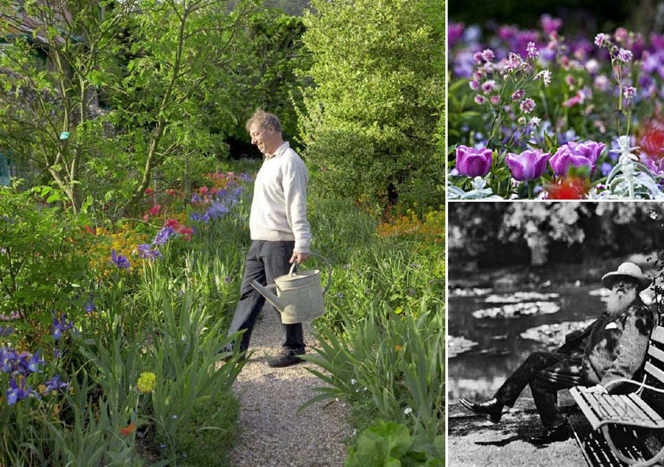 Picture This: James Priest Gardening; Right, The Artist At Giverny In 1910;