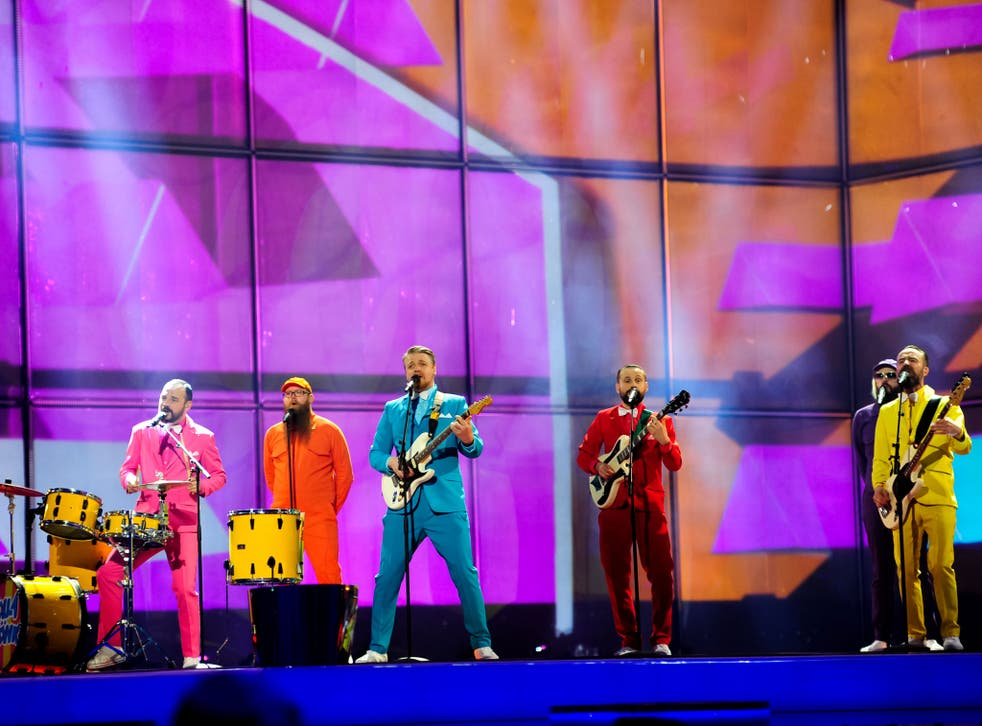 A dress rehearsal of the First Semi-Final for the Eurovision Song Contest in Copenhagen, Denmark