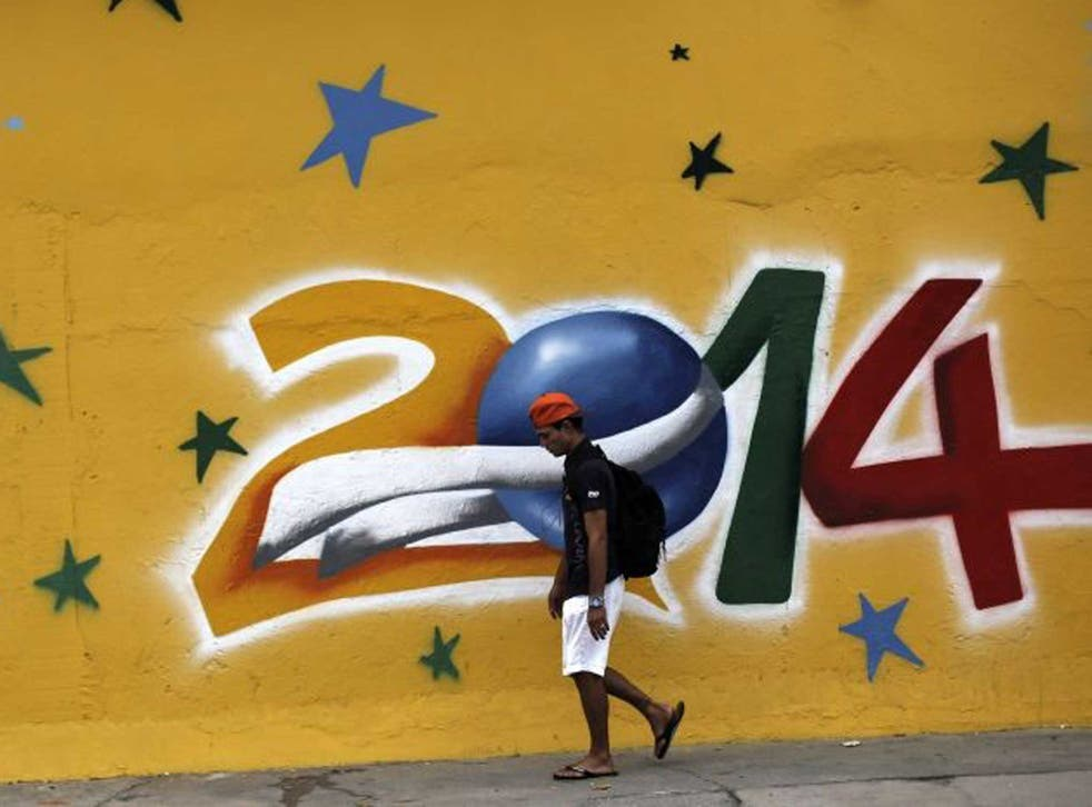 Footie fiesta: Graffiti sets the tone in São Paulo, venue for the opening match